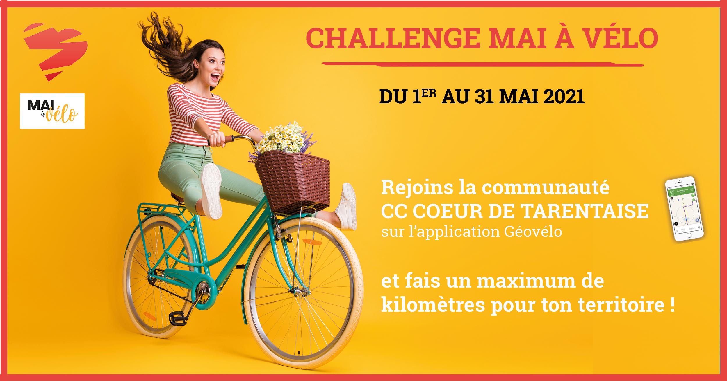 """Participe au challenge """"Mai à vélo"""" !"""