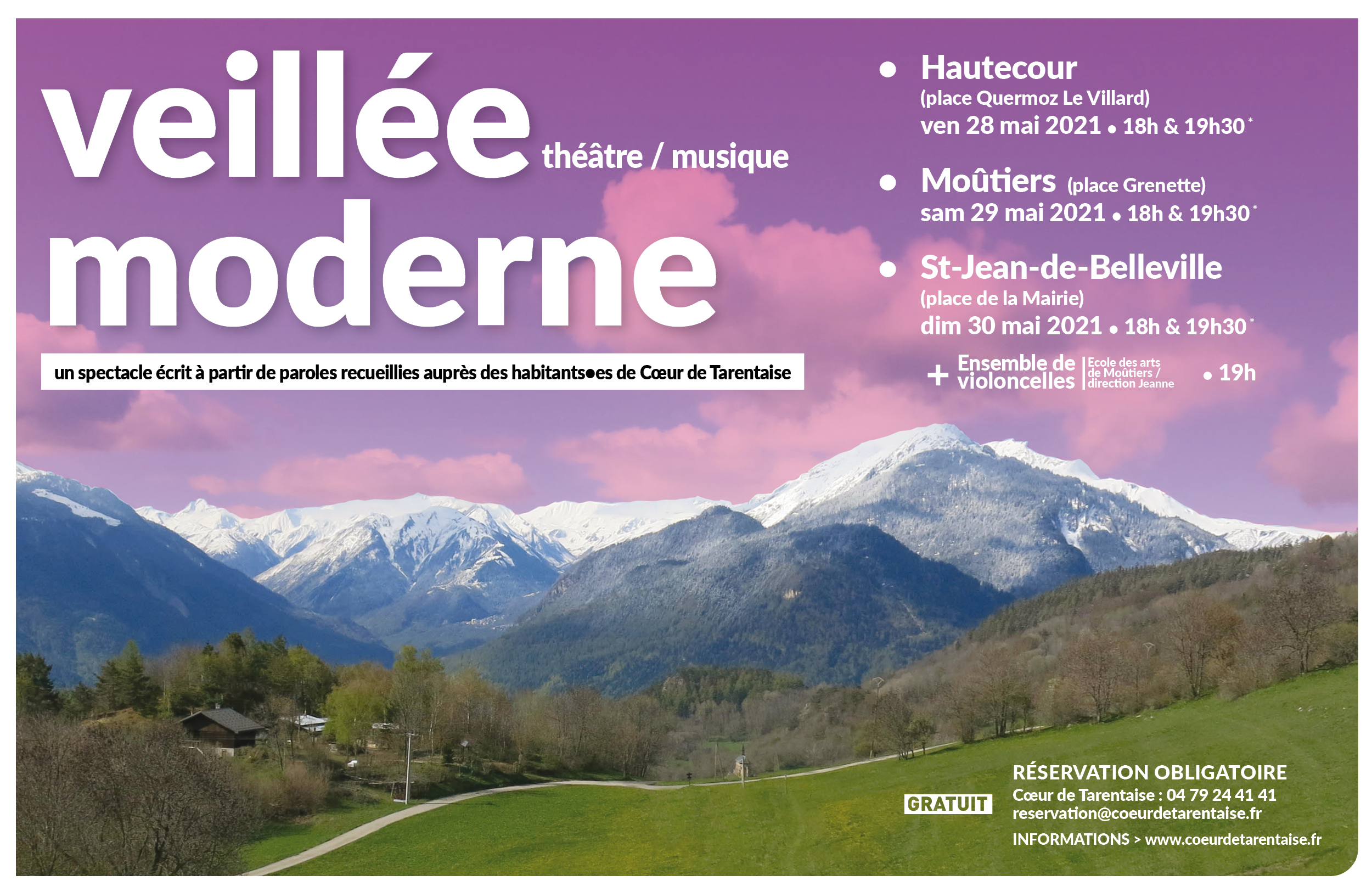 """Veillée moderne"" un spectacle itinérant"