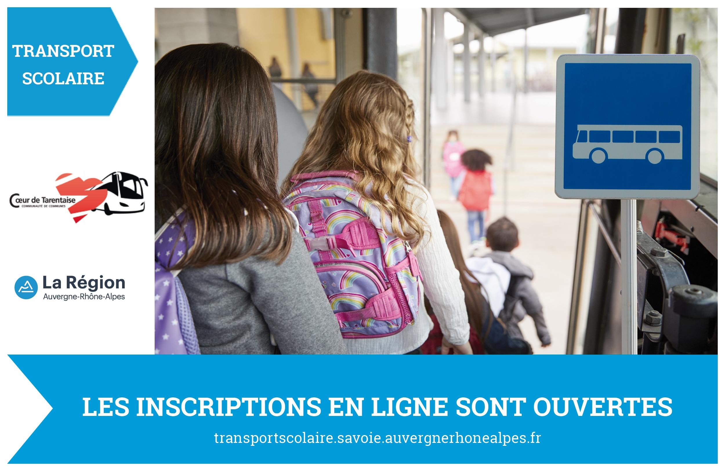 Transport scolaire : les inscriptions en ligne sont ouvertes !